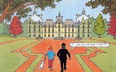 """Le château de Moulinsart, à priori situé près de Bruxelles, mais inspiré du château de Cheverny... http://2doc.net/0ke60 -  imaginé par Hergé pour sa série de bande dessinée """"Les Aventures de Tintin"""". Tintin y est l'hôte du capitaine Haddock à la fin de la série. C'est dans l'album """"Le Secret de La Licorne"""" que le château apparaît la première fois. #BD #Tintin #france"""