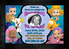 Bubble Guppies Birthday Invitations- Digital Copy. $5.00, via Etsy.