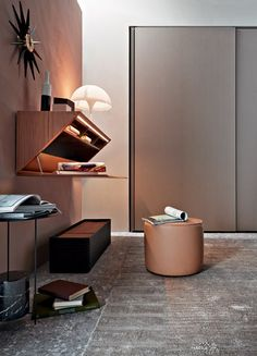 Wooden secretary desk / wall shelf SEGRETO - @moltenidada