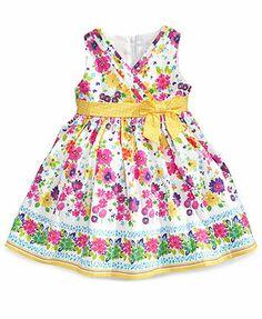 Nannette Little Girls' Floral Border-Print Dress - Kids - Macy's Kids Summer Dresses, Summer Kids, Little Girls, Girly Girls, Border Print, Floral Border, Dress Online, Bride, Pretty