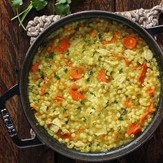 COLD FIGHTING COUSCOUS CHICKEN SOUP (leek, carrot, celery, lemongrass, chicken stock, chicken, parsley, israeli couscous)