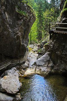 Bärenschützklamm is a gorge located in Fischbacher Alps, Styria, Austria (by macc72).