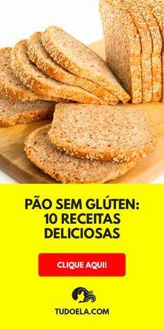Pão sem glúten: 10 receitas deliciosas e fáceis #receitas #receitafacil #culinária #gastronomia #pratos #comida #pães #tudoela
