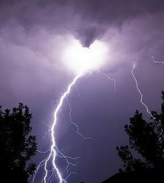 Weather watching - especially lightening storms - wierd considering our house was struck by lighteneing and we had a fire.