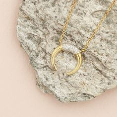 Carry a piece of luna magic with you with our Sophie Lis Fallen Moon necklace