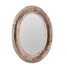 W4527Rustic Finish Oval Mirror $99