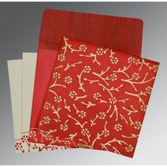 Give your wedding a special feel with our exclusive Red, Wooly, Indian Wedding Cards - IN-8216L