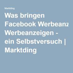 Was bringen Facebook Werbeanzeigen - ein Selbstversuch | Marktding