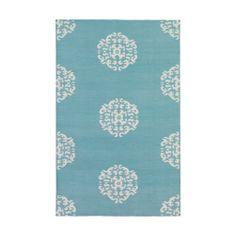 Aqua Mandala Cotton Carpet