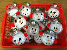 Snow men ornament craft.