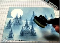 Winter Moonlight Snow Scene tutorial - Did I pin this already?  I can't remember, but it's SO pretty!