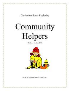Free Community Helpers unit on Tpt Social Studies Communities, Communities Unit, Community Helpers Crafts, Preschool Social Studies, Community Workers, Math Art, Classroom Community, School Themes, Dramatic Play