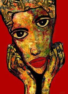 "Saatchi Art Artist CARMEN LUNA; Painting, ""7-RETRATOS Expresionistas."" #art http://www.saatchiart.com/art-collection/Painting-Assemblage-Collage/Expressionist-Portrait/71968/51263/view"