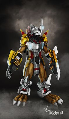 Wargreymon 3D (Zbrush) on Behance