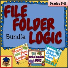 Puzzles are a great way to challenge students to think logically about problems, and are rewarding to solve. This bundle includes three types of puzzles that with colorful boards and challenge cards that can be used as file folder activities for students who need an extra challenge.