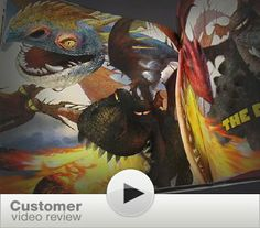Still from a customer review video of the Art of How to Train Your Dragon book. This art is amazing! I love behind the scenes stuff on animated films.