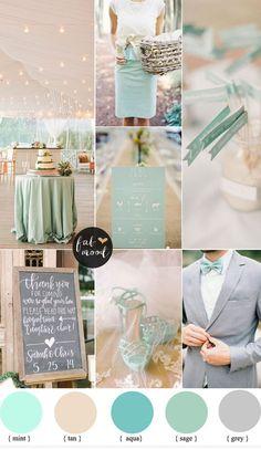 mint and tan wedding colour palette | fabmood.com