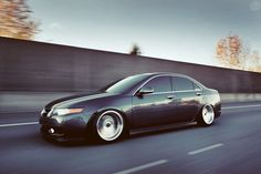 Сlean 2006 Acura TSX. He's slammed on BC Racing BR Extreme Low Coilovers and Cobra Reps, 17x10.5 +20
