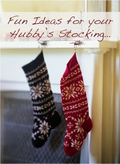 Reader Tips: 31 Fun Ideas for your Hubby's Stocking! For my dad and brother though.