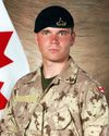 Trooper Corey Joseph Hayes. Royal Canadian Dragoons, 3rd Battalion, RCR. Died March 20, 2009.