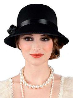 Charleston Hat Womens Headwear Black Costume Carnival in Hats & Headgear Fleurs Style Shabby Chic, Estilo Gatsby, Fancy Black Dress, Black Costume, Fancy Dress Accessories, Gatsby Style, Love Hat, Cute Hats, Flappers