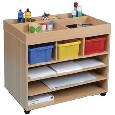 Art material storage trolley