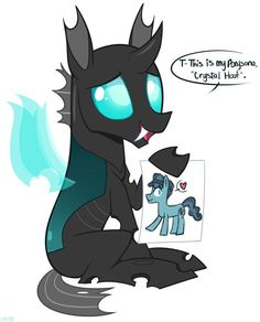 New contest. Draw your oc as a changling with a picture of them as their persona or their original ponyself