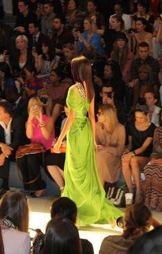 Fashion Week New York. Green from CARLOS MIELE
