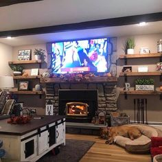 Fireplace Shelves, Fireplace Built Ins, Home Fireplace, Living Room Remodel, Home Living Room, Living Room Designs, Living Room Decor, Built In Shelves Living Room, Home Accents