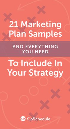 Your guide to the ultimate marketing plan http://coschedule.com/blog/marketing-plan-samples/?utm_campaign=coschedule&utm_source=pinterest&utm_medium=CoSchedule&utm_content=21%20Marketing%20Plan%20Samples%20And%20Everything%20You%20Need%20To%20Include%20In%20Your%20Strategy