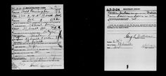 Registration Card WWII Draft