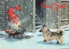 Christmascard - Artist: Kjell Midthun - Pinned from https://www.facebook.com/DetGamleNorge?fref=photo