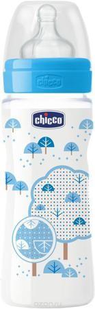 """Бутылочка Chicco Well-Being Boy от 4 месяцев 330 мл  — 533р. --- Бренд Chicco создан в Италии в 1958 году и уже более 55 лет предлагает малышам и их мамам качественные и надежные товары для комфортного материнства. Серия бутылочек и сосок Well-Being (в переводе с английского - """"благополучие"""") от Chicco за 10 лет стала хитом продаж - ее выбрали уже более 30 миллионов мам во всем мире. Бутылочка Well-Being 330мл с силиконовой соской имеет рифленые кольца на кончике соски, которые повышают ее…"""