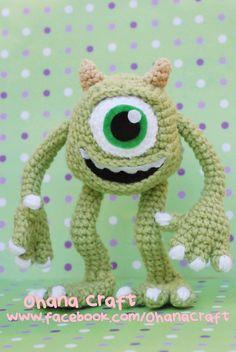Mike Amigurumi Crochet PDF pattern by OhanaCraftAmigurumi on Etsy, $8.00