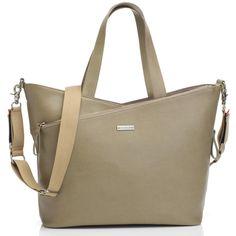Sac à langer maman Lucinda cuir beige taupe : Storksak Leather Diaper Bags, Leather Bag, Leather Changing Bag, Cute Diaper Bags, Cuir Orange, Diaper Bag Essentials, Baby Changing Bags, Cute Handbags