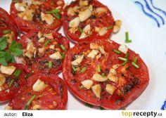Pečená rajčata recept - TopRecepty.cz Bruschetta, Mozzarella, Pesto, Food And Drink, Cooking, Ethnic Recipes, Cucina, Kochen, Cuisine