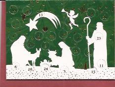 Mini Adventskalender: In de kerststal met envelopje € 1,50