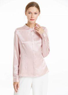 6ef8597104872 22MM Feminine Slim Fit Silk Shirt Hot Sale On Lilysilk