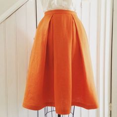 A Little Post About Making Box Pleated Skirts