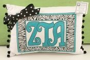 Zeta Tau Alpha Sorority Greek Symbol Lumbar Pillow