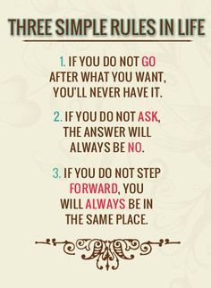 Three Simple Rules in Life ►► http://www.eminentlyquotable.com/three-simple-rules-in-life/?i=p