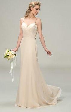 939705a9cfc Chiffon Sheath Wedding Gown with Sweetheart neckline   Draped Criss-Cross  Back Detail