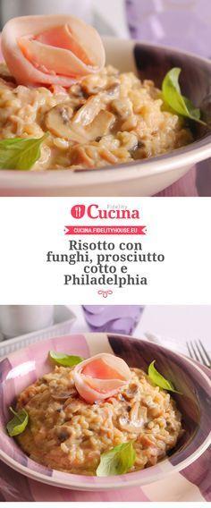 #Risotto con #funghi, #prosciutto cotto e #Philadelphia della nostra utente Giovanna. Unisciti alla nostra Community ed invia le tue ricette!