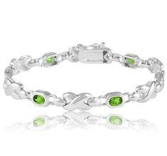 8/8/2012 Summer #BirthStone Collection   $24.99  + FREE SHIPPING Peridot Sterling Silver Bezel Set X-Link Bracelet