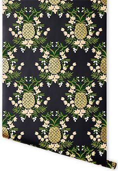 "Meet the Makers: Southern Wallpaper Designers | ""Pineapple"" wallpaper from Rifle Paper Co. #gardenandgun"