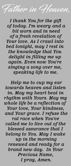Pray this Powerful Prayer Before Going to Bed Every Night - The Catholic Herald Prayer Scriptures, Bible Prayers, Faith Prayer, God Prayer, Prayer Quotes, Power Of Prayer, Prayer Room, Bible Quotes, Bible Verses