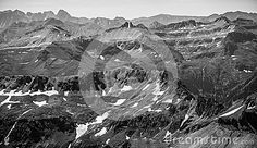 Monochrome Rocky Mountain Rugged Epic Landscape from 14,000 feet up!