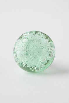 Bubbled Glass Knob. Other possibility for drawers & cupboards in trailer.