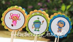 Hey, I found this really awesome Etsy listing at http://www.etsy.com/listing/156068356/team-umizoomi-cupcake-toppers-team