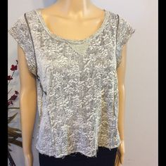 """We The Free We The Free by Free People. Distressed top with floral print. Shoulder to hem 21"""". Across bust 21"""". No flaws...like new Free People Tops"""